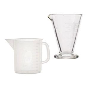 Copas y jarras graduadas