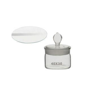 Pesafiltros y vidrios de reloj